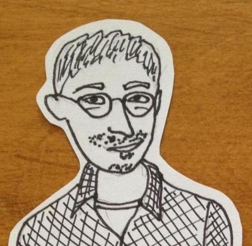 Jonathan Greenhause,close-up drawn by The Ugly Volvo