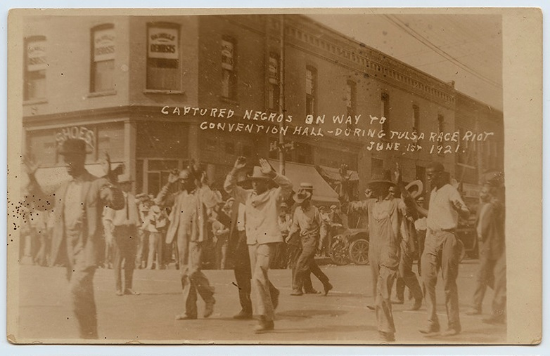 Captured Negros on Way to Convention Hall During Tulsa Race Riot 1921